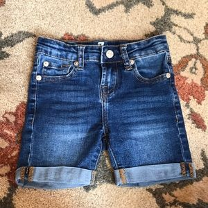 7 for all mankind girls denim shorts size 6